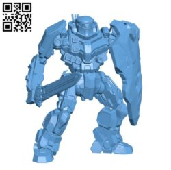 Robot BL-X-KNT Black Knight  for Battletech H000392 file stl free download 3D Model for CNC and 3d printer
