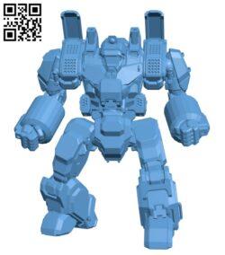Robot CRD-3K Crusader for Battletech H000414 file stl free download 3D Model for CNC and 3d printer