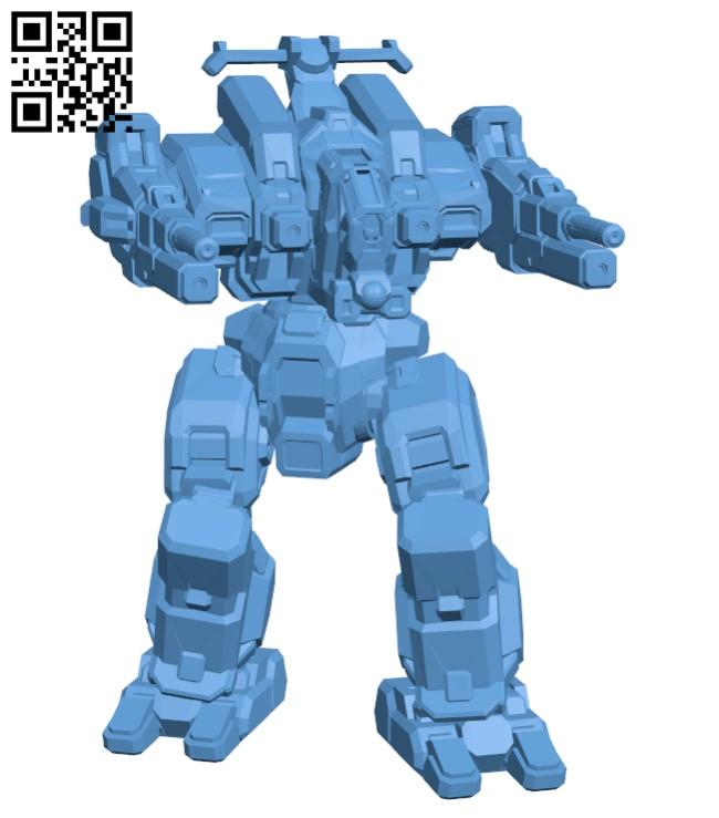 Robot RFL-3N Rifleman for Battletech H000393 file stl free download 3D Model for CNC and 3d printer