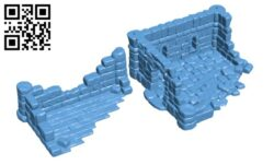 Ruined Town H000350 file stl free download 3D Model for CNC and 3d printer