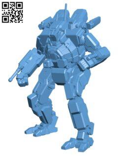 SDR-5K Spider for Battletech – Robot H000488 file stl free download 3D Model for CNC and 3d printer