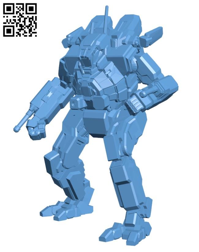 SDR-5K Spider for Battletech H000488 file stl free download 3D Model for CNC and 3d printer