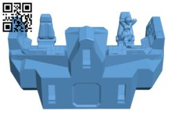 Sample Cockpit & Pilot H000487 file stl free download 3D Model for CNC and 3d printer