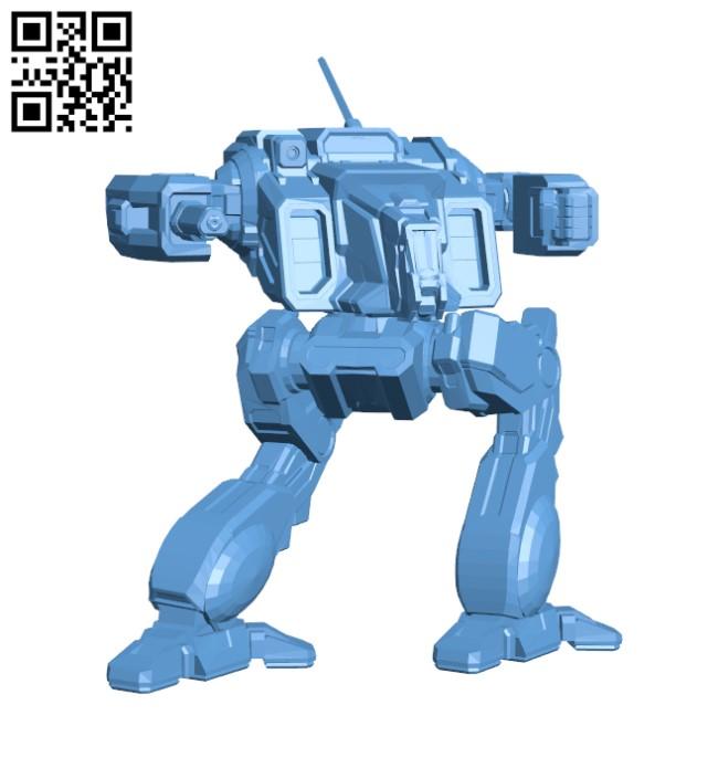Shadowcat Prime for Battletech H000351 file stl free download 3D Model for CNC and 3d printer
