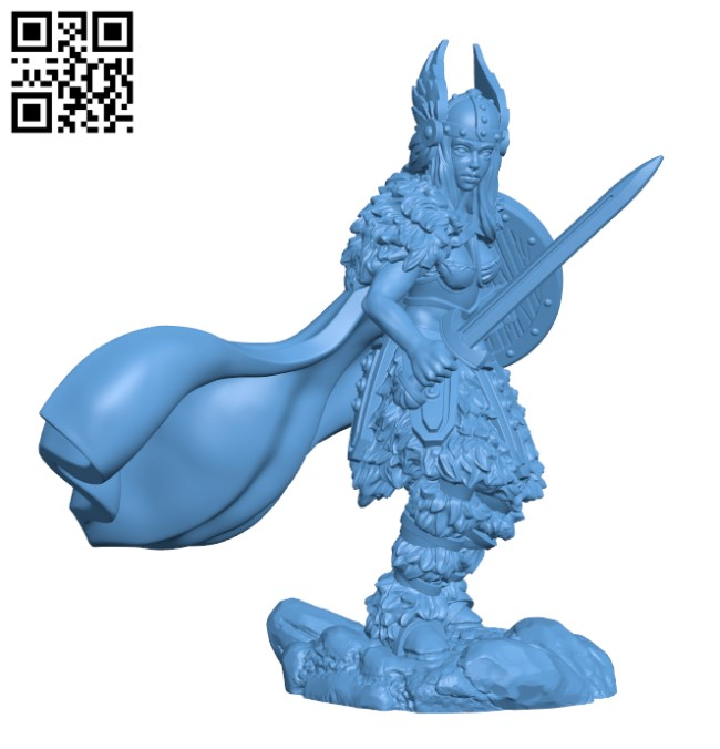 Shield Maiden H000291 file stl free download 3D Model for CNC and 3d printer