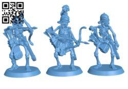 Skeleton Archer Set H000417 file stl free download 3D Model for CNC and 3d printer