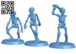 Skeleton Set H000245 file stl free download 3D Model for CNC and 3d printer