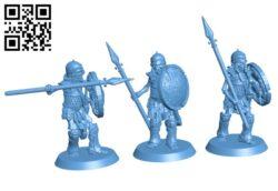 Skeleton Spearmen Set H000354 file stl free download 3D Model for CNC and 3d printer