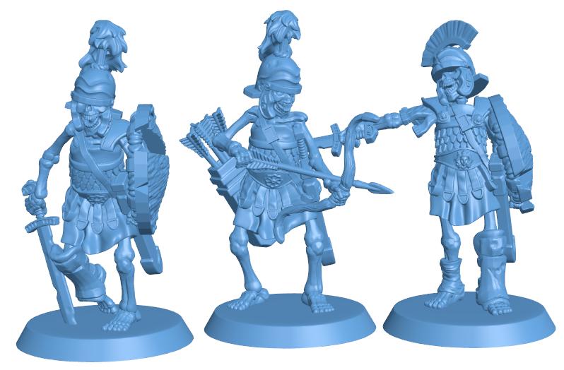 Skeleton Warrior Set H000097 file stl free download 3D Model for CNC and 3d printer