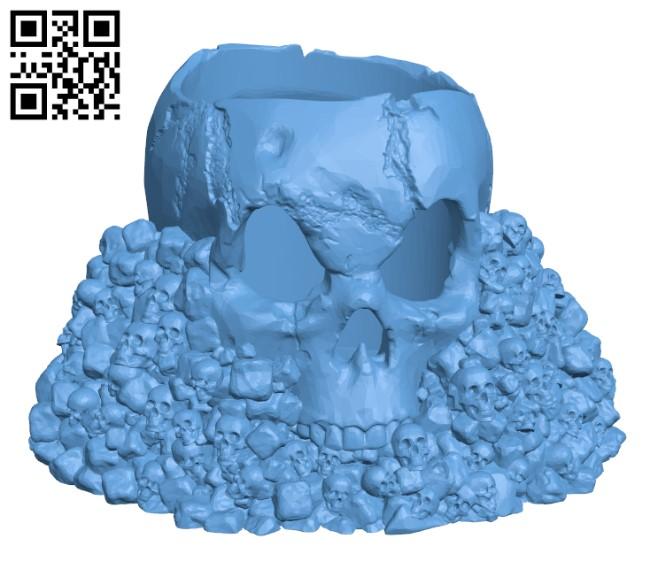 Skull Holder H000490 file stl free download 3D Model for CNC and 3d printer