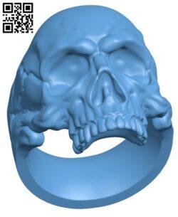 Skull Ring H000157 file stl free download 3D Model for CNC and 3d printer