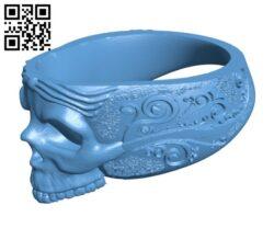 Skull Ring H000418 file stl free download 3D Model for CNC and 3d printer