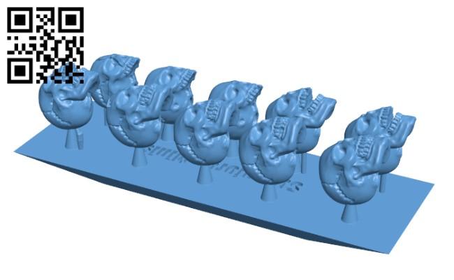Skull Set x10 H000293 file stl free download 3D Model for CNC and 3d printer