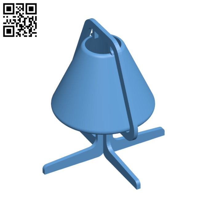Smooth Night Lampshade H000038 file stl free download 3D Model for CNC and 3d printer