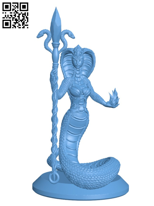 Snake Queen H000356 file stl free download 3D Model for CNC and 3d printer