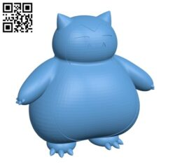 Snorlax Pokemon H000397 file stl free download 3D Model for CNC and 3d printer