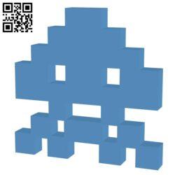 Space Invader 10Points H000040 file stl free download 3D Model for CNC and 3d printer file stl free download 3D Model for CNC and 3d printer