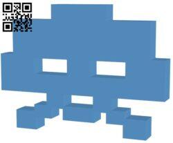 Space Invader 20Points H000041 file stl free download 3D Model for CNC and 3d printer