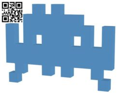 Space Invader 25 Points H000042 file stl free download 3D Model for CNC and 3d printer