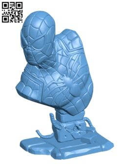 Spiderman bust H000127 file stl free download 3D Model for CNC and 3d printer