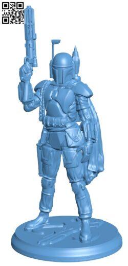Star Wars – Boba Fett The Bounty Hunter H000128 file stl free download 3D Model for CNC and 3d printer
