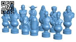 Star Wars Chess Set Revised H000295 file stl free download 3D Model for CNC and 3d printer