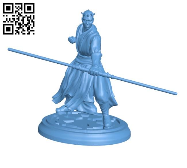 Star Wars - Darth Maul H000491 file stl free download 3D Model for CNC and 3d printer