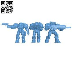 Starcraft Marines – Robot H000247 file stl free download 3D Model for CNC and 3d printer