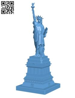 Statue of Liberty in Manhattan, New York H000318 file stl free download 3D Model for CNC and 3d printer