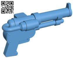 Steampunk pistol – gun B009627 file stl free download 3D Model for CNC and 3d printer