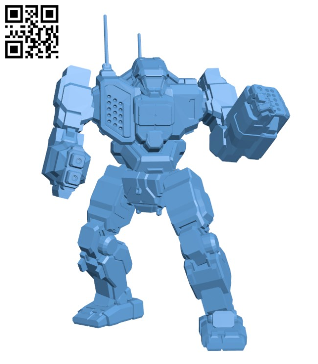 TBT-5N Trebuchet for Battletech H000357 file stl free download 3D Model for CNC and 3d printer