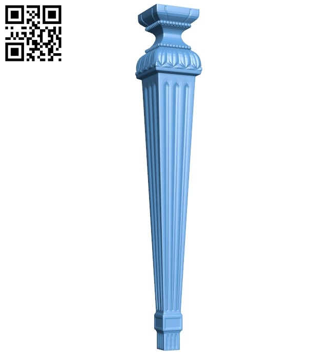 Table legs and chairs A006608 download free stl files 3d model for CNC wood carving