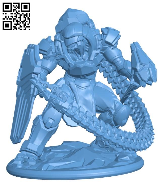 TentaSteel Assault cyborg H000358 file stl free download 3D Model for CNC and 3d printer