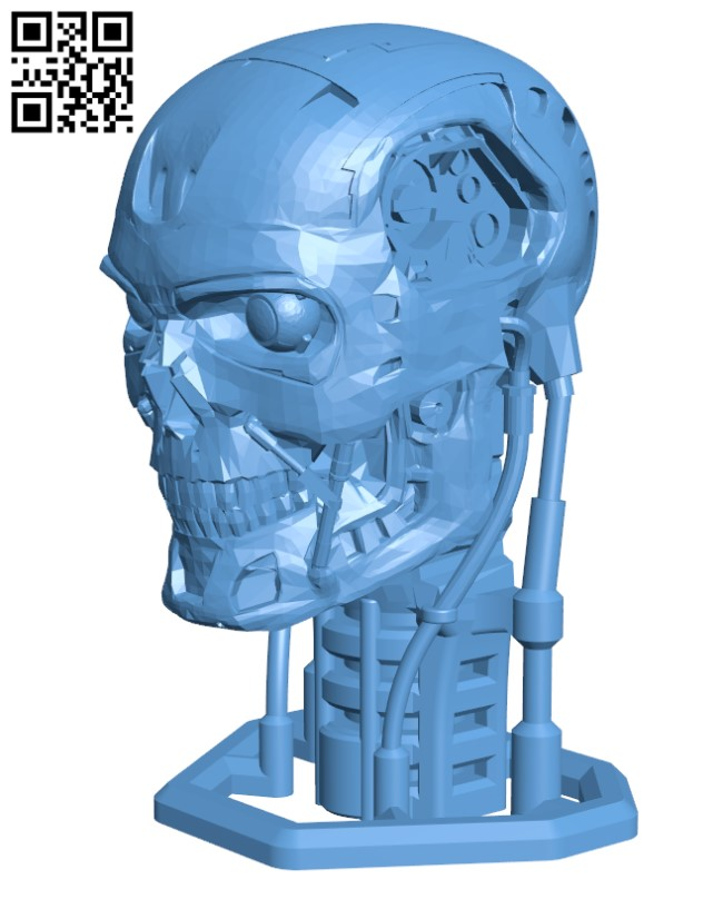 Terminator T800 Bust H000419 file stl free download 3D Model for CNC and 3d printer