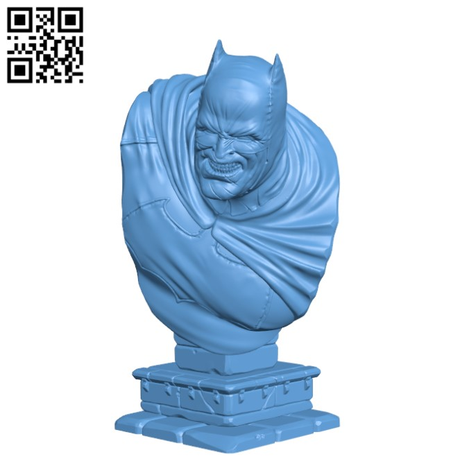 The Dark Knight bust H000249 file stl free download 3D Model for CNC and 3d printer