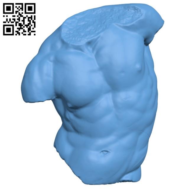 The Gaddi Torso H000492 file stl free download 3D Model for CNC and 3d printer