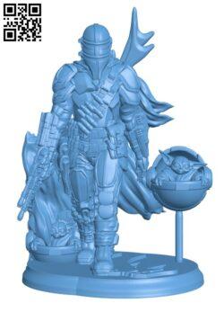 The Mandalorian – Star Wars Fanart H000101 file stl free download 3D Model for CNC and 3d printer