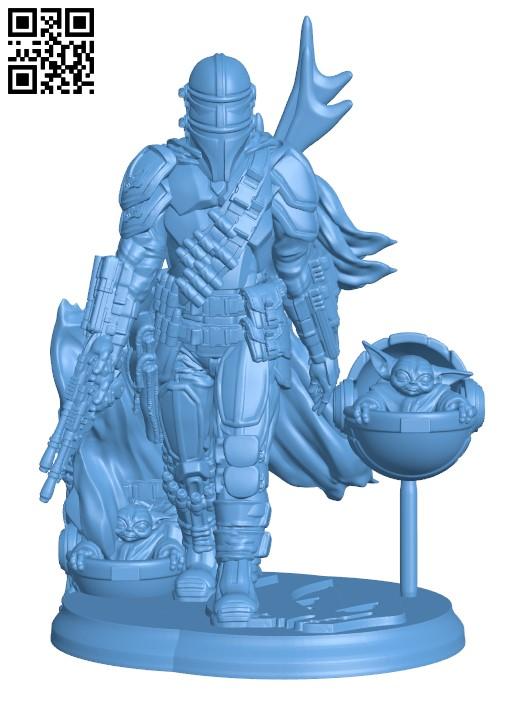The Mandalorian - Star Wars Fanart H000101 file stl free download 3D Model for CNC and 3d printer