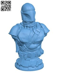 The Mandalorian from Star Wars H000421 file stl free download 3D Model for CNC and 3d printer
