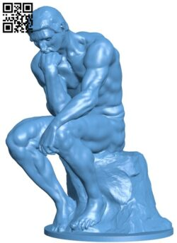 The Thinker at the Musée Rodin, France H000130 file stl free download 3D Model for CNC and 3d printer
