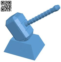 Thor Hammer H000112 file stl free download 3D Model for CNC and 3d printer