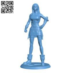 Tifa Lockhart – Final Fantasy 7 Remake H000218 file stl free download 3D Model for CNC and 3d printer