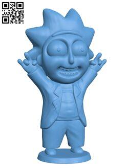 Tiny Rick H000420 file stl free download 3D Model for CNC and 3d printer