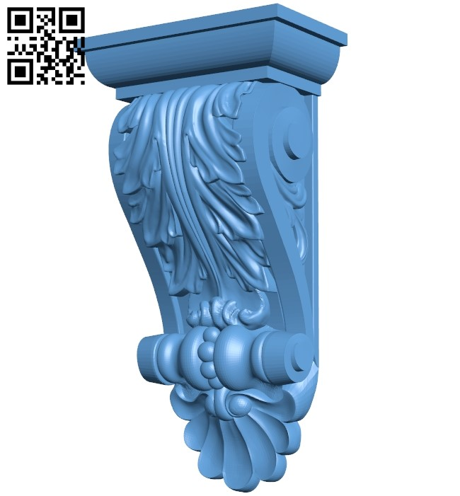 Top of the column A006591 download free stl files 3d model for CNC wood carving