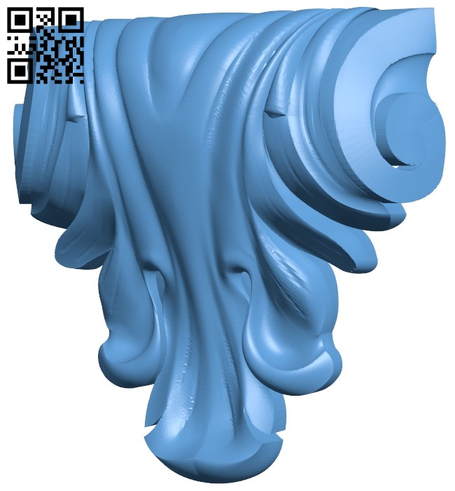 Top of the column A006593 download free stl files 3d model for CNC wood carving