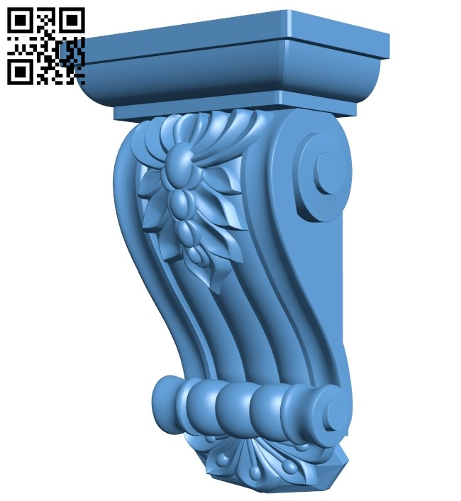 Top of the column A006597 download free stl files 3d model for CNC wood carving