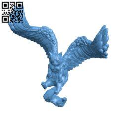 Tressym Flying cat H000422 file stl free download 3D Model for CNC and 3d printer