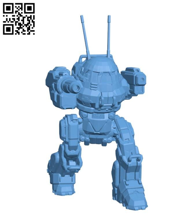 UM-R60 Urbanmech for Battletech H000250 file stl free download 3D Model for CNC and 3d printer