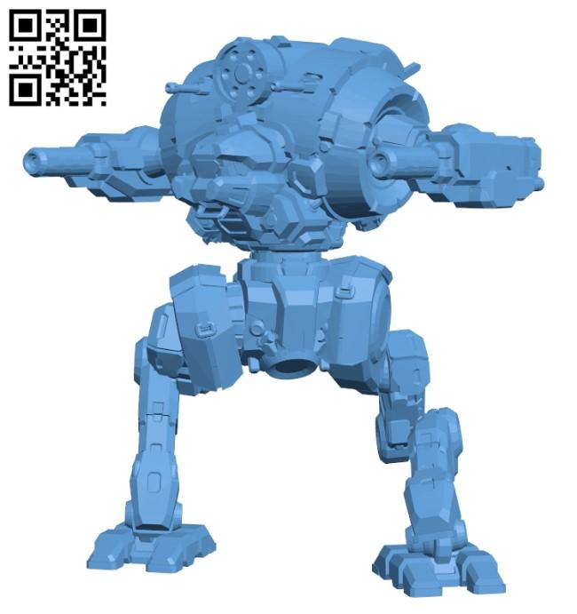 UZL-2S Uziel for Battletech- Robot H000424 file stl free download 3D Model for CNC and 3d printer