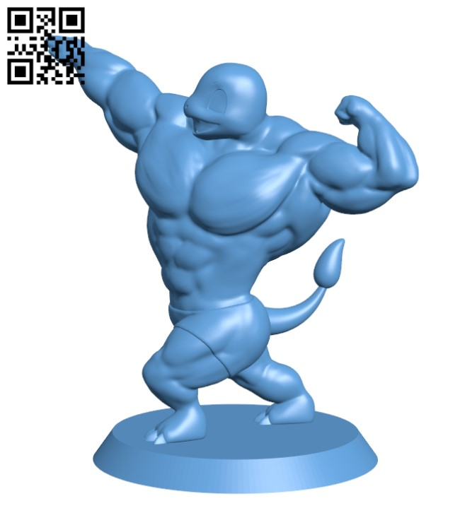 Ultra swole Charmander H000299 file stl free download 3D Model for CNC and 3d printer
